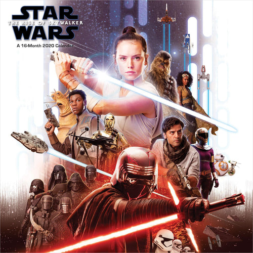 Star Wars: The Rise of Skywalker 2020 Wall Calendar - Find unique gifts for Star Wars fans, new star wars games and Star wars LEGO sets, star wars collectibles, star wars gadgets and kitchen accessories at Gifteee Cool gifts, Unique Gifts for Star Wars fans