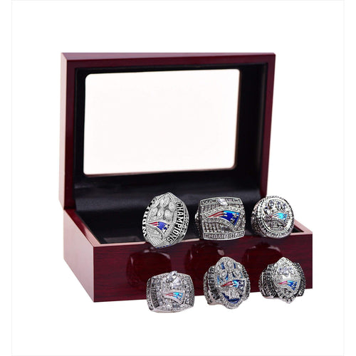 New England Patriots Championship Ring Set Super Bowl Collectible