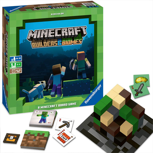 Ravensburger Minecraft: Builders & Biomes Strategy Game-Toy - www.Gifteee.com - Cool Gifts \ Unique Gifts - The Best Gifts for Men, Women and Kids of All Ages