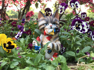 Mischievous Cat Garden Gnome-BISS - www.Gifteee.com - Cool Gifts \ Unique Gifts - The Best Gifts for Men, Women and Kids of All Ages