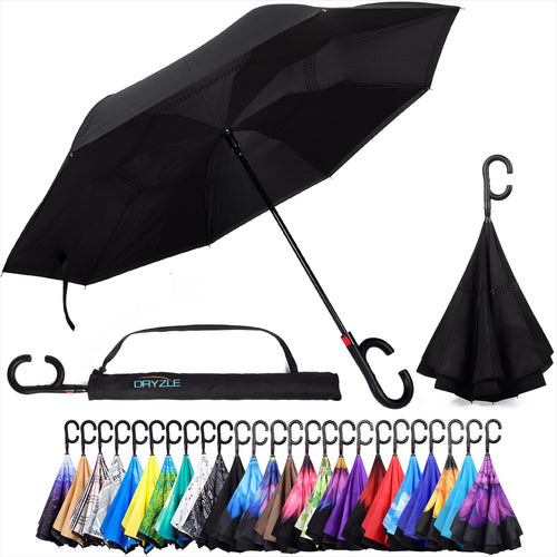 Upside Down Windproof Umbrella-Sports - www.Gifteee.com - Cool Gifts \ Unique Gifts - The Best Gifts for Men, Women and Kids of All Ages