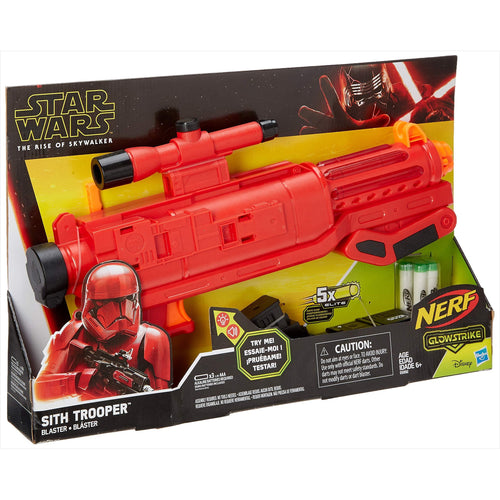 Star Wars Nerf Sith Trooper Blaster - Lights & Sounds, Glowstrike Technology, 5 Official Nerf Glowstrike Darts - Find unique gifts for Star Wars fans, new star wars games and Star wars LEGO sets, star wars collectibles, star wars gadgets and kitchen accessories at Gifteee Cool gifts, Unique Gifts for Star Wars fans