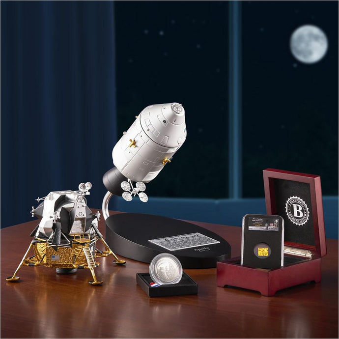 The 50th Anniversary Silver Dollar Apollo 11 Model And Genuine Artifact - Find unique STEM gifts find science kits, educational games, environmental gifts and toys for boys and girls at Gifteee Cool gifts, Unique Gifts for science lovers