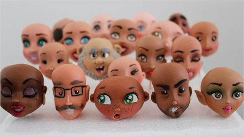 How to make sugar craft faces (Online Course) - Find unique online courses to pass the time while in self isolation staying at home, learn a new craft, find a new hobby at Gifteee Cool gifts, Unique Online Courses a great gift idea