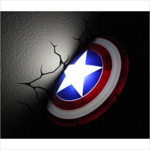 Captain America 3D Night Light (Marvel Avengers)-Toy - www.Gifteee.com - Cool Gifts \ Unique Gifts - The Best Gifts for Men, Women and Kids of All Ages