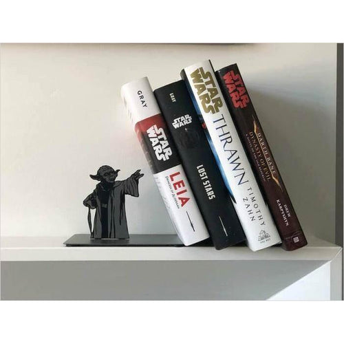 Star Wars Yoda Metal Bookend - Find unique gifts for Star Wars fans, new star wars games and Star wars LEGO sets, star wars collectibles, star wars gadgets and kitchen accessories at Gifteee Cool gifts, Unique Gifts for Star Wars fans