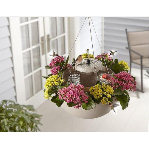 The Bird Bath Hanging Planter-bird feeder - www.Gifteee.com - Cool Gifts \ Unique Gifts - The Best Gifts for Men, Women and Kids of All Ages