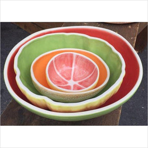 Fruit Like Bowls Set - 4 piece - Find unique gifts that will get you kids eating well and eating healthy with unique foodie gifts for kids dinner and the kitchen at Gifteee Cool gifts, Unique Gifts that will make kids enjoy eating