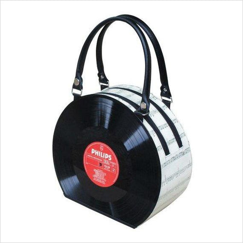 Retro Vinyl Record Handbag-handbag - www.Gifteee.com - Cool Gifts \ Unique Gifts - The Best Gifts for Men, Women and Kids of All Ages