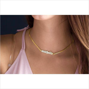 Personalized name Choker Necklace-necklace - www.Gifteee.com - Cool Gifts \ Unique Gifts - The Best Gifts for Men, Women and Kids of All Ages