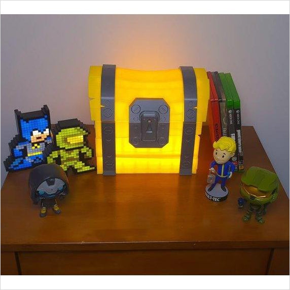 fortnite loot chest desk lamp night light - lego ideas fortnite