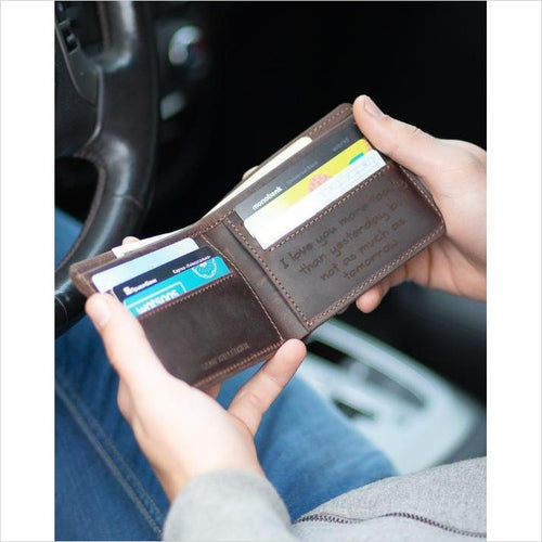Personalized Leather Wallet - Gifteee. Find cool & unique gifts for men, women and kids