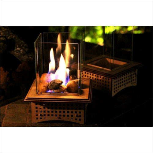 Tabletop Glass Fireplace-fire place - www.Gifteee.com - Cool Gifts \ Unique Gifts - The Best Gifts for Men, Women and Kids of All Ages