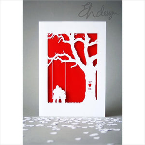 Personalised Papercut Valentines Day Card-birthday card - www.Gifteee.com - Cool Gifts \ Unique Gifts - The Best Gifts for Men, Women and Kids of All Ages