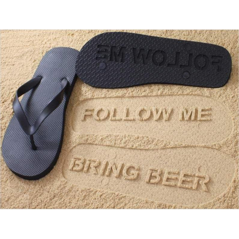 Follow Me - Bring Beer - Flip Flops-flip flops - www.Gifteee.com - Cool Gifts \ Unique Gifts - The Best Gifts for Men, Women and Kids of All Ages