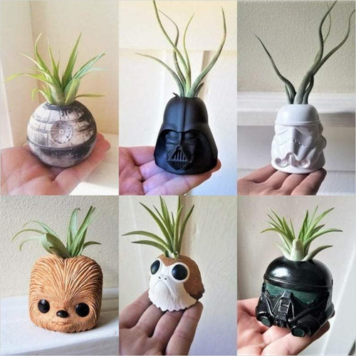 Star Wars inspired plant holder collection-planter - www.Gifteee.com - Cool Gifts \ Unique Gifts - The Best Gifts for Men, Women and Kids of All Ages