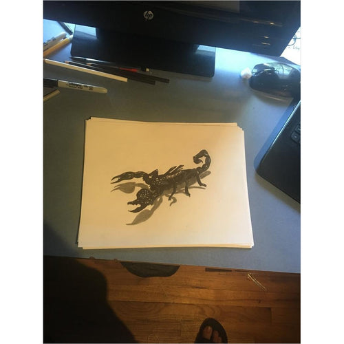 3D Scorpion Drawing-3d art - www.Gifteee.com - Cool Gifts \ Unique Gifts - The Best Gifts for Men, Women and Kids of All Ages