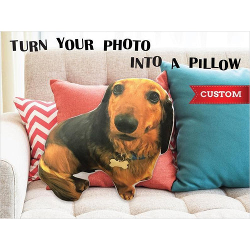Custom Shaped Dog Photo Pillow - Gifteee. Find cool & unique gifts for men, women and kids
