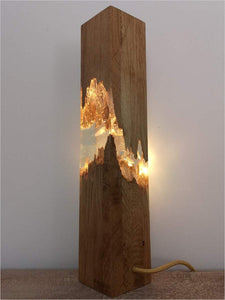 Epoxy wood lamp