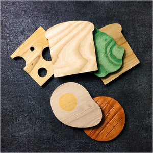 Wood sandwich coaster-coaster - www.Gifteee.com - Cool Gifts \ Unique Gifts - The Best Gifts for Men, Women and Kids of All Ages