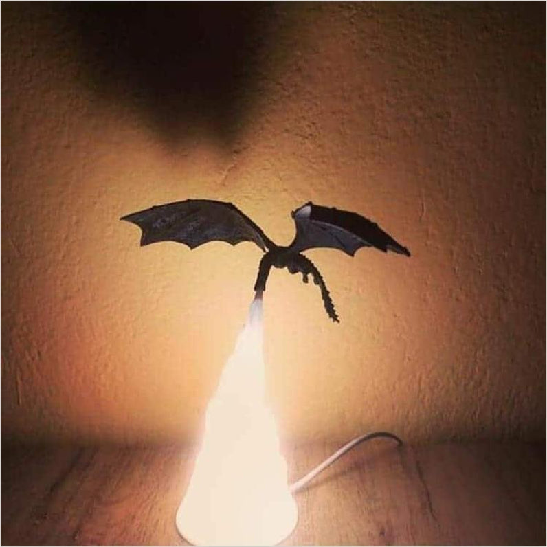 Dragon Fire Lamp (Game of Thrones)-lamp - www.Gifteee.com - Cool Gifts \ Unique Gifts - The Best Gifts for Men, Women and Kids of All Ages
