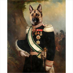 Custom royal pet portrait-painting - www.Gifteee.com - Cool Gifts \ Unique Gifts - The Best Gifts for Men, Women and Kids of All Ages