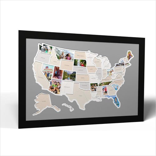 50 States Photo Map - Gifteee. Find cool & unique gifts for men, women and kids