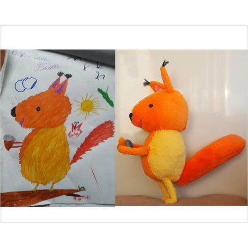 Create a Plush From Kids Drawing - Find special gifts for girls and tweens age 5-11 year old, gifts for your daughter, gifts for your kids birthday or Christmas, gifts for a young princess, gifts for you children classmates and friends at Gifteee Unique Gifts, Cool gifts for girls
