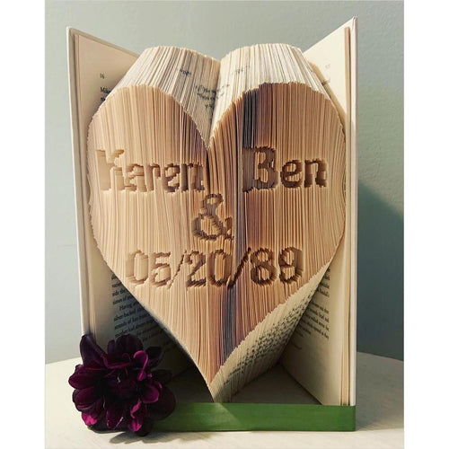 Lovers Folded Book Art - Gifteee. Find cool & unique gifts for men, women and kids