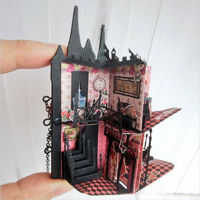 The Rose Castle Miniature Pop Up Book - Find the most unique and unusual gifts. Weird gifts ideas that you never saw before. unusual gadgets, unique products that simply very odd at Gifteee Odd gifts, Unusual Gift ideas