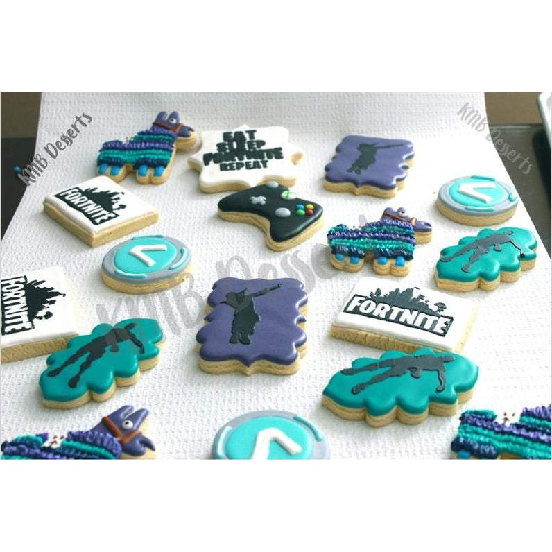 Fortnite inspired Cookies-cookies - www.Gifteee.com - Cool Gifts \ Unique Gifts - The Best Gifts for Men, Women and Kids of All Ages