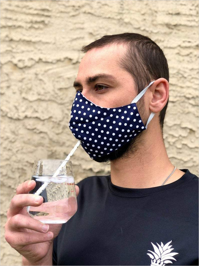Face Mask With Hole For Straw