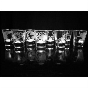 Game of Thrones Shot Glass Set of 8-shot glass - www.Gifteee.com - Cool Gifts \ Unique Gifts - The Best Gifts for Men, Women and Kids of All Ages