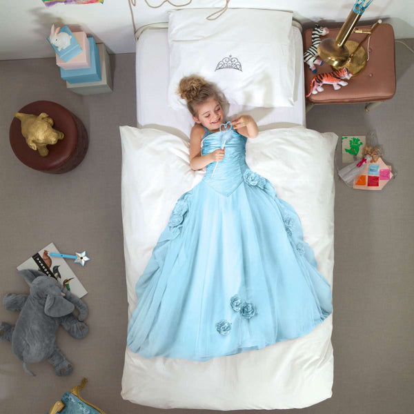 Posteljnina Princess Blue