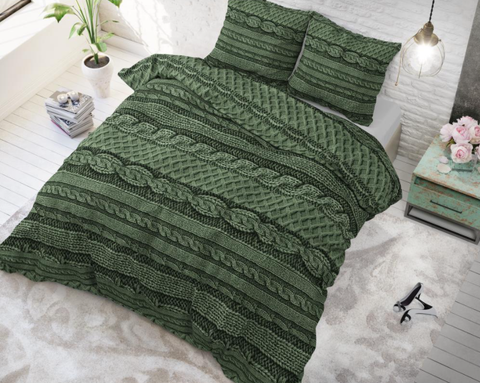Posteljnina Nature Knits Green
