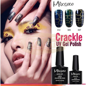 Mixcoco Soak-Off UV Gel Nail Polish Crackle Collection