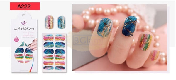 Nail Stickers - Radiance series nail stickers - A222