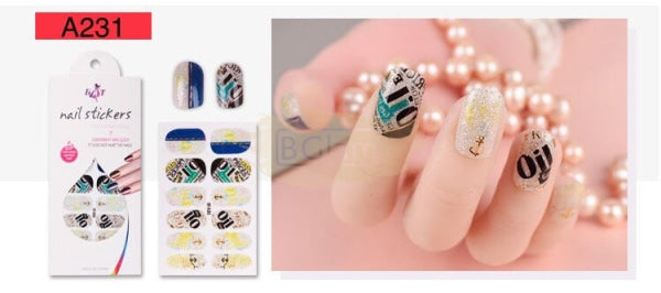 Nail Stickers - Radiance series nail stickers - A231