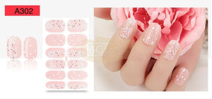 Lace series nail stickers - A302