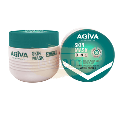 Agiva 3-IN-1 Skin Mask (Cleanser, Scrub & Mask) 300ml