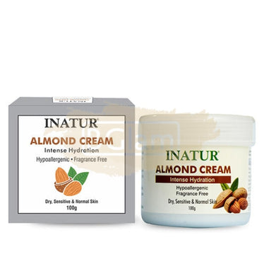 Inatur Moisturizer Almond Cream (Intense Moisturizer for dry, blemished and chapped skin)