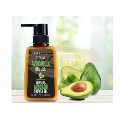 Olivos Olive Oil Avocado Shower Gel 750ml (Gluten, Paraben & Sulfate Free)