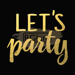 Tattoo Sticker Gold - Let's Party