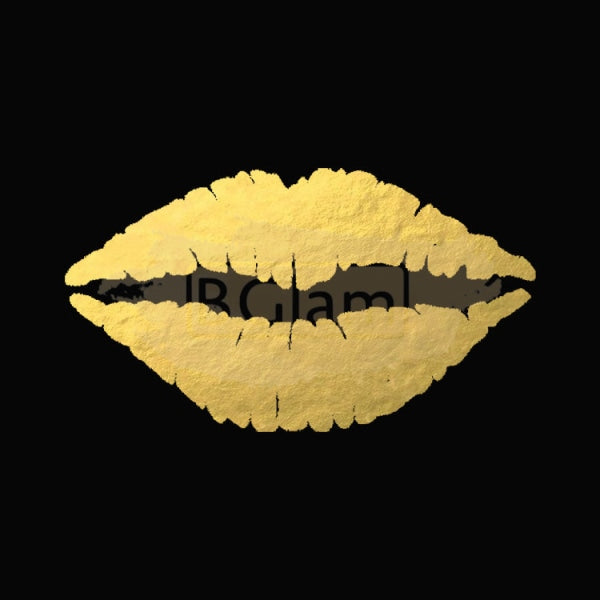 Tattoo Sticker Gold - Sexy Lips