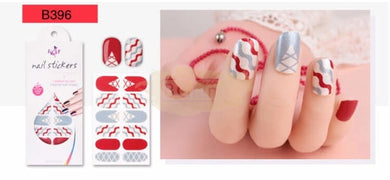 Euro series nail stickers - B396