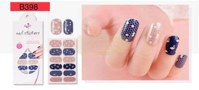 Euro series nail stickers - B398