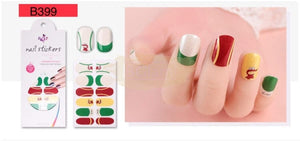 Euro series nail stickers - B399