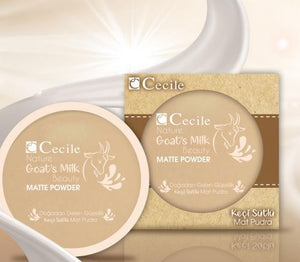 Cecile Nature Goat's Milk Beauty Matte Powder (Paraben Free)