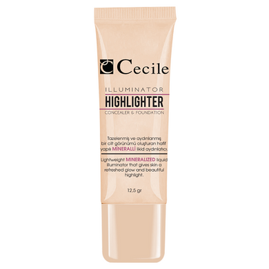 Cecile Concealer - Illuminator Highlighter Concealer & Foundation