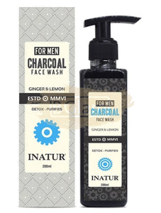 Inatur for Men Charcoal Face Wash